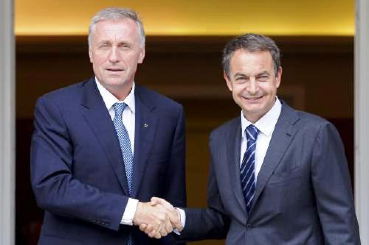 Mirek Topolánek a José Luis Zapatero