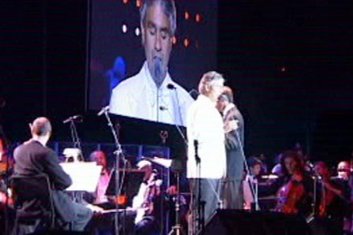 Andrea Bocelli s doprovodem Českého národního symfonického orchestru