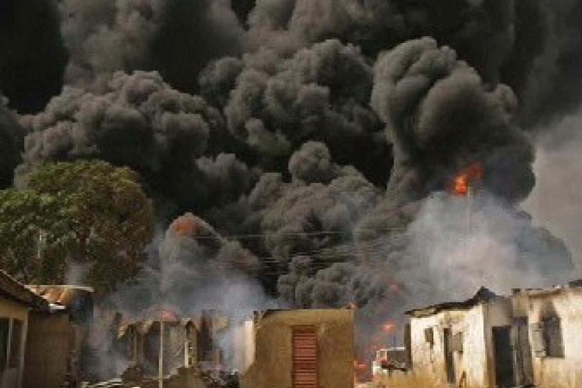 Požár v Nigérii