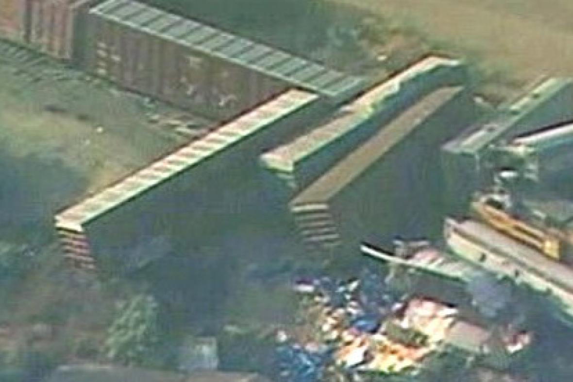 Následky srážky vlaků