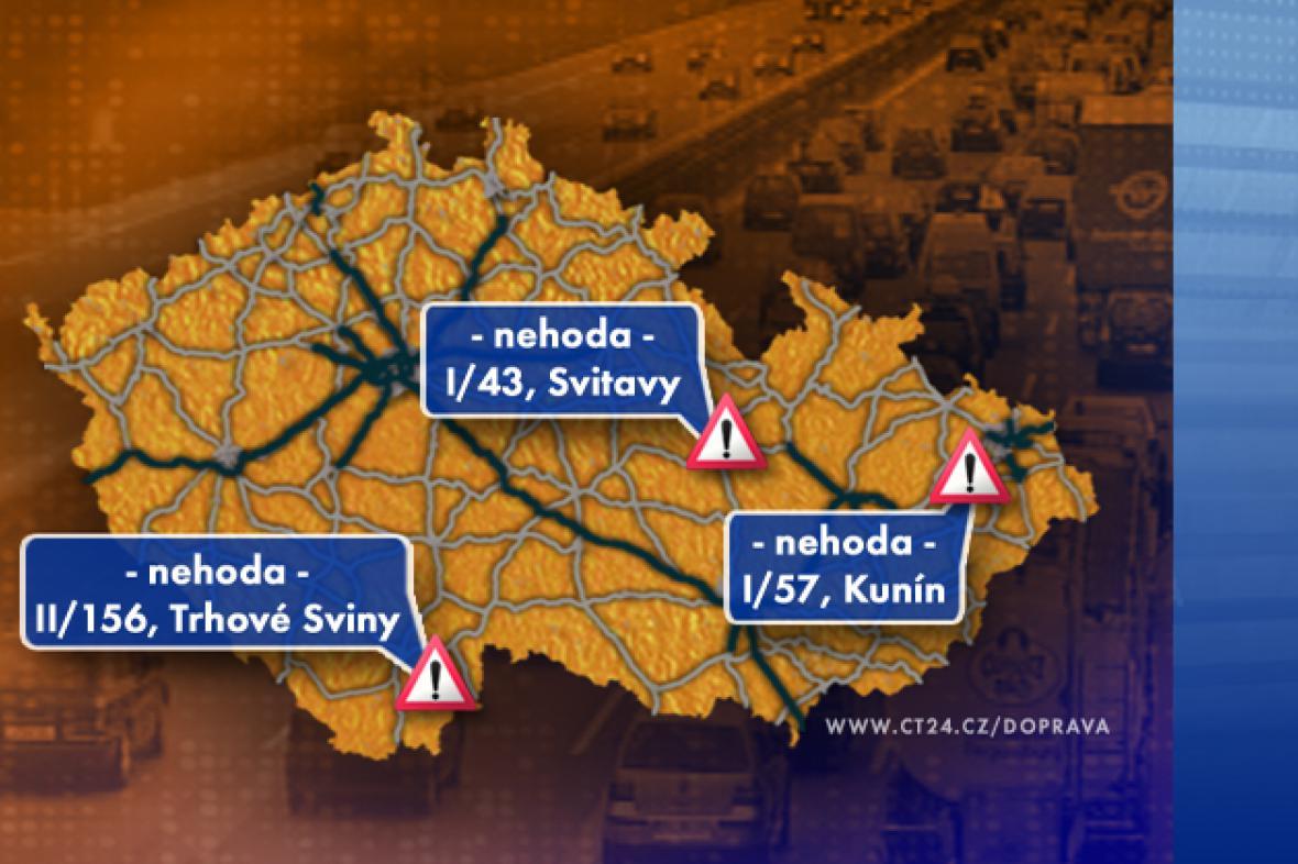 Dopravní situace v úterý 16. 9. 2008