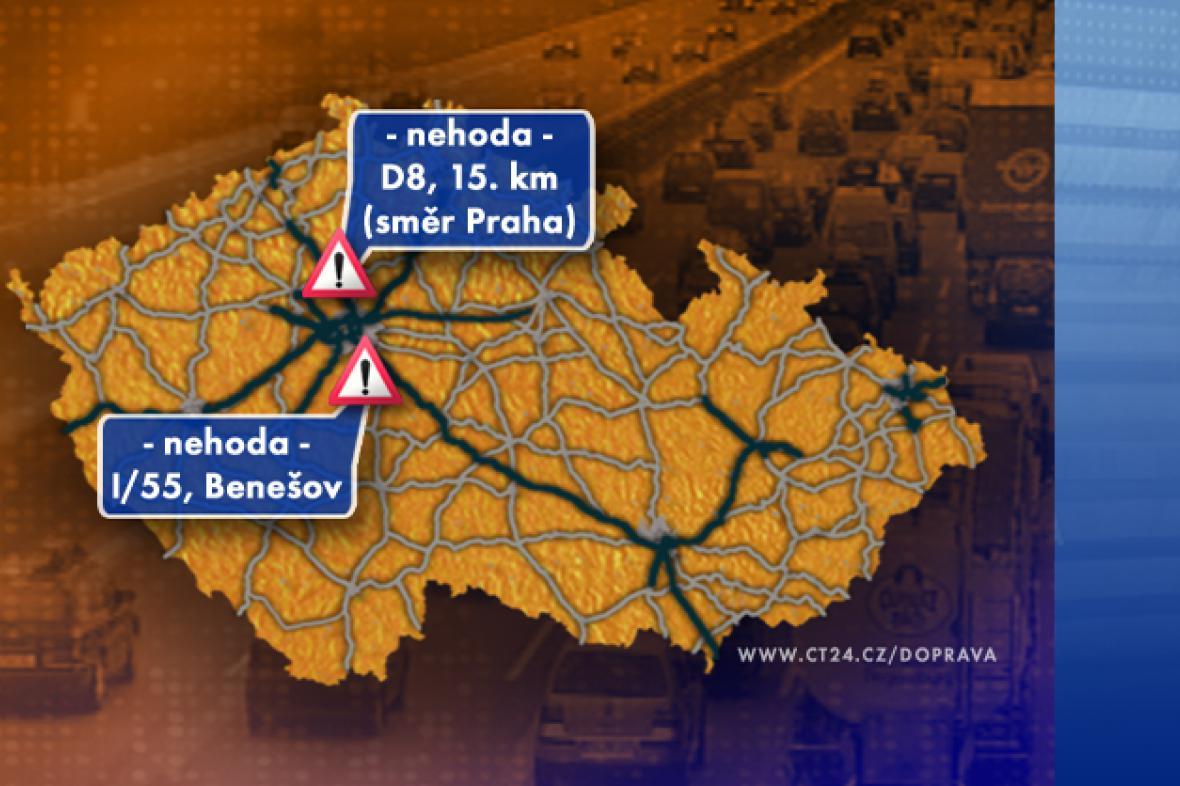 Dopravní situace v pondělí 15. 9. 2008