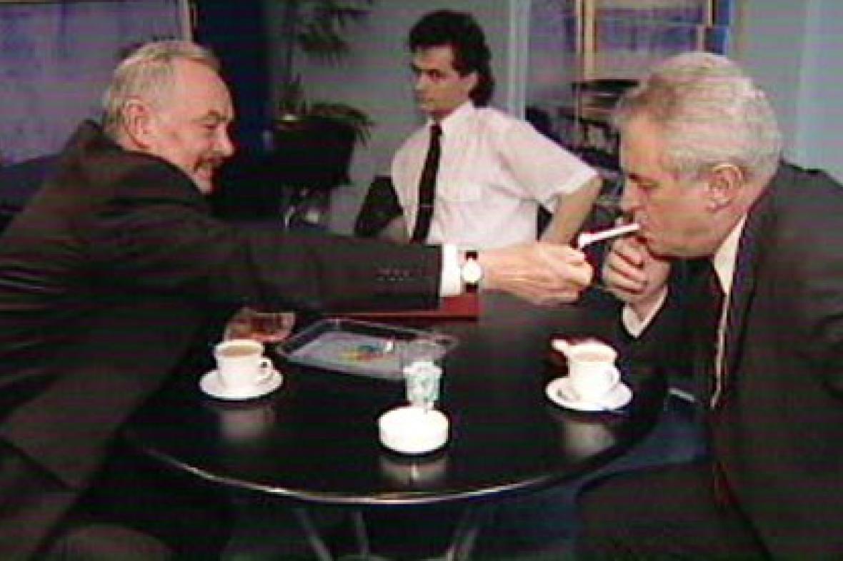 Přemysl Sobotka a Miloš Zeman