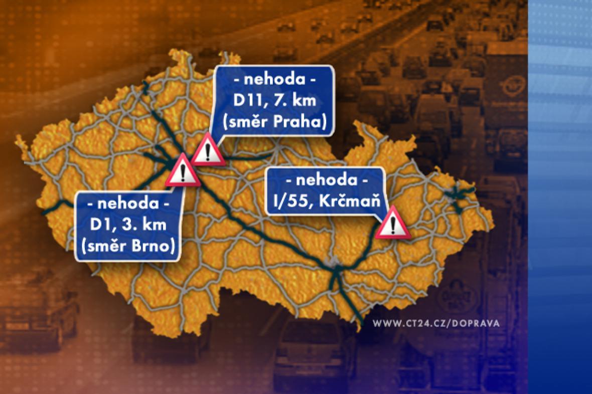 Dopravní situace v úterý 9. 9. 2008