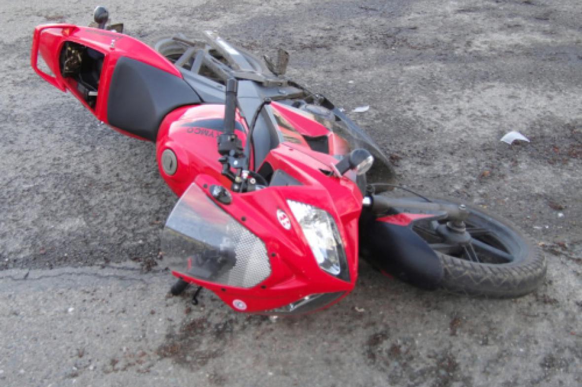 Motorka po nehodě