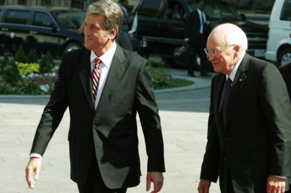 Viktor Juščenko a Richard Cheney