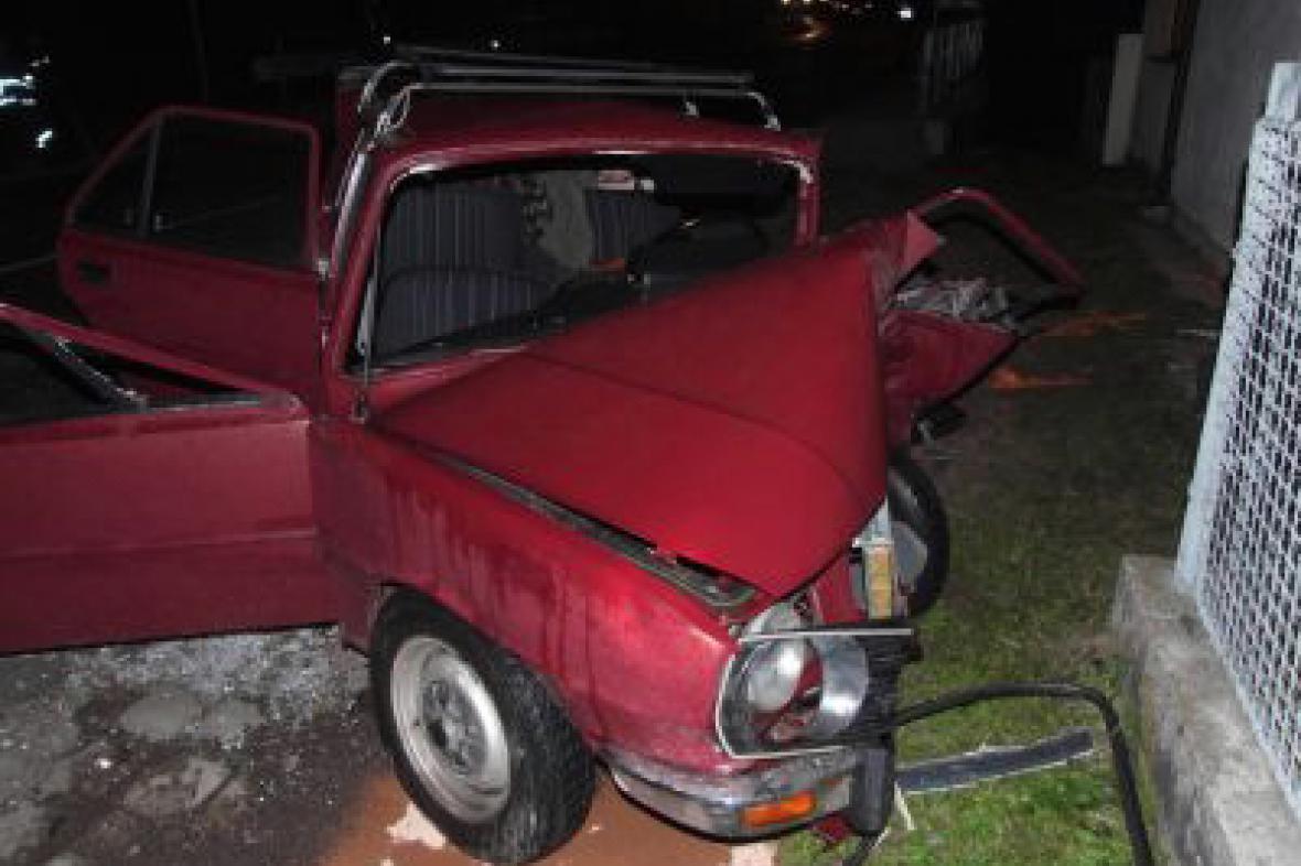 Škoda 120 L po nehodě