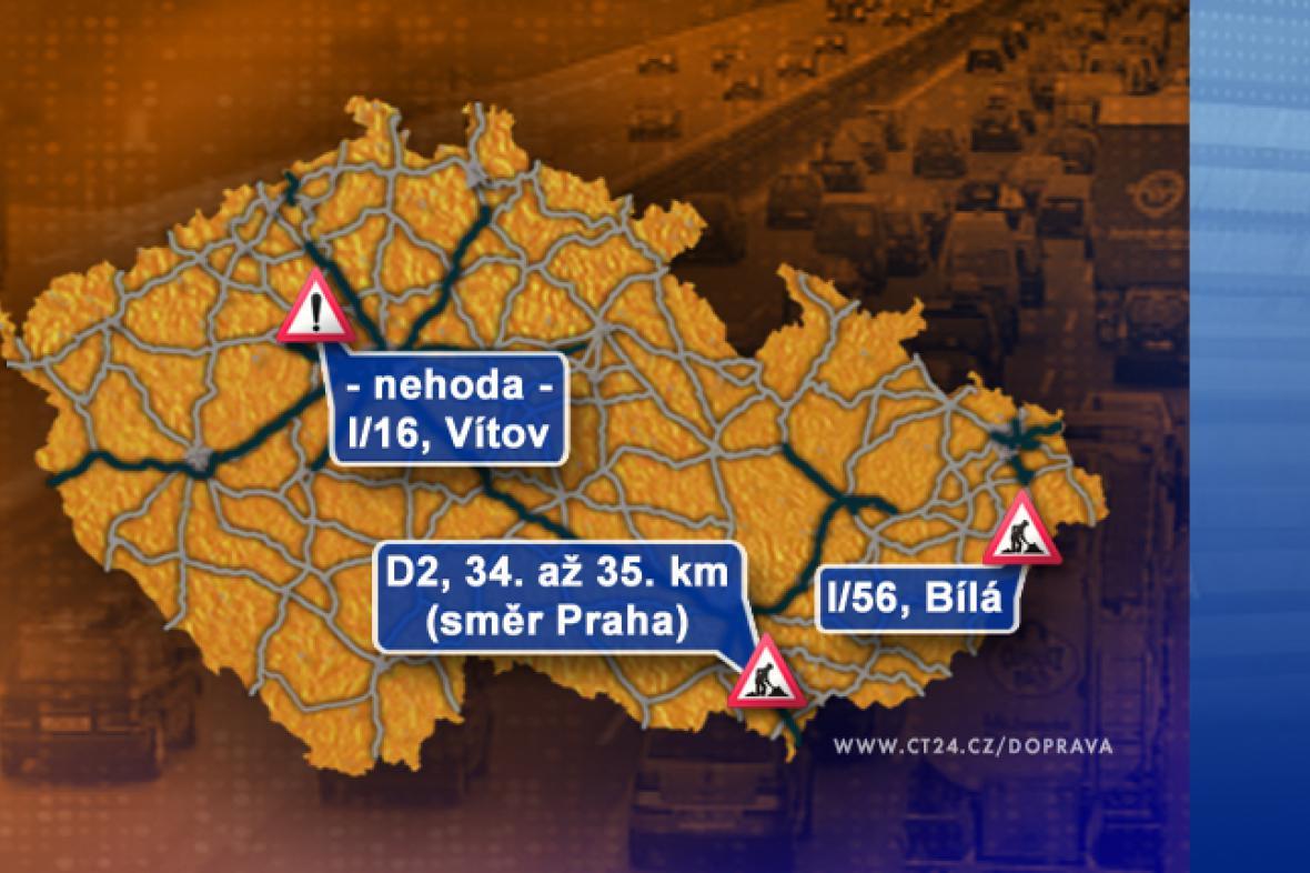 Dopravní situace v pátek 5. 9. 2008