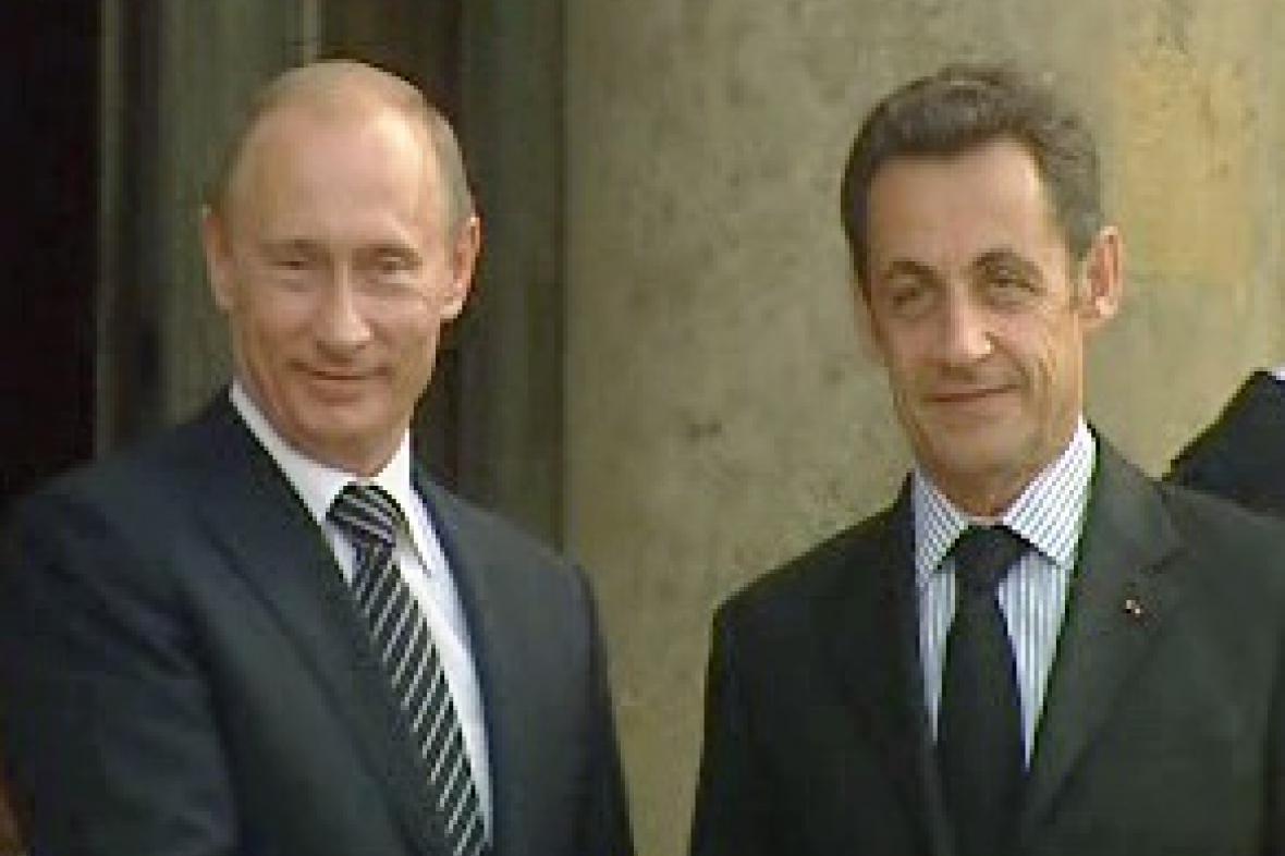 Putin a Sarkozy