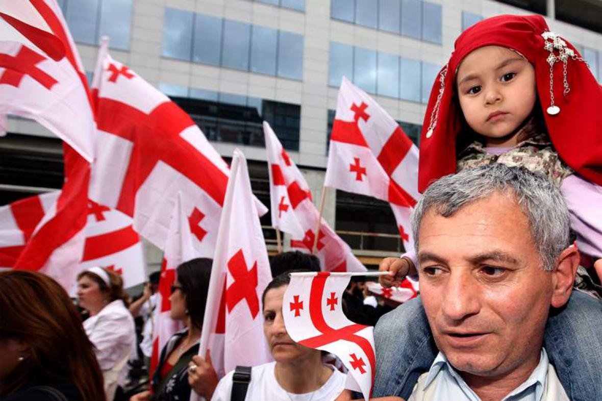 Protesty v Gruzii