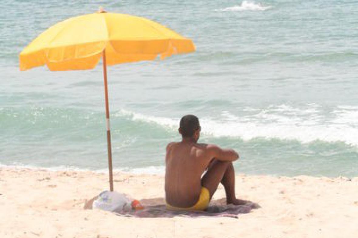Samota na pláži