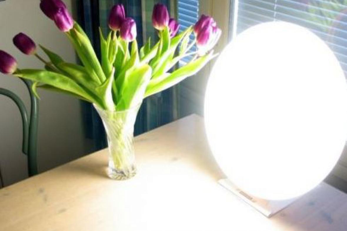Lampa užívaná ve světelné terapii