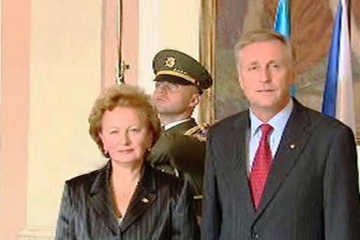 Zinaida Greceaniiová a Mirek Topolánek