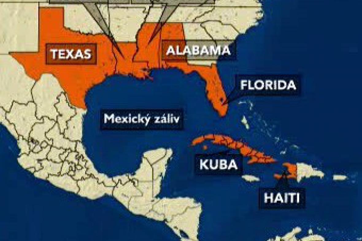 Mexický záliv ohrožuje hurikán Gustav