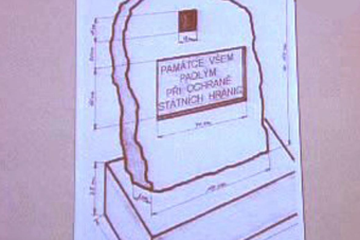 Návrh pomníku padlým pohraničníkům