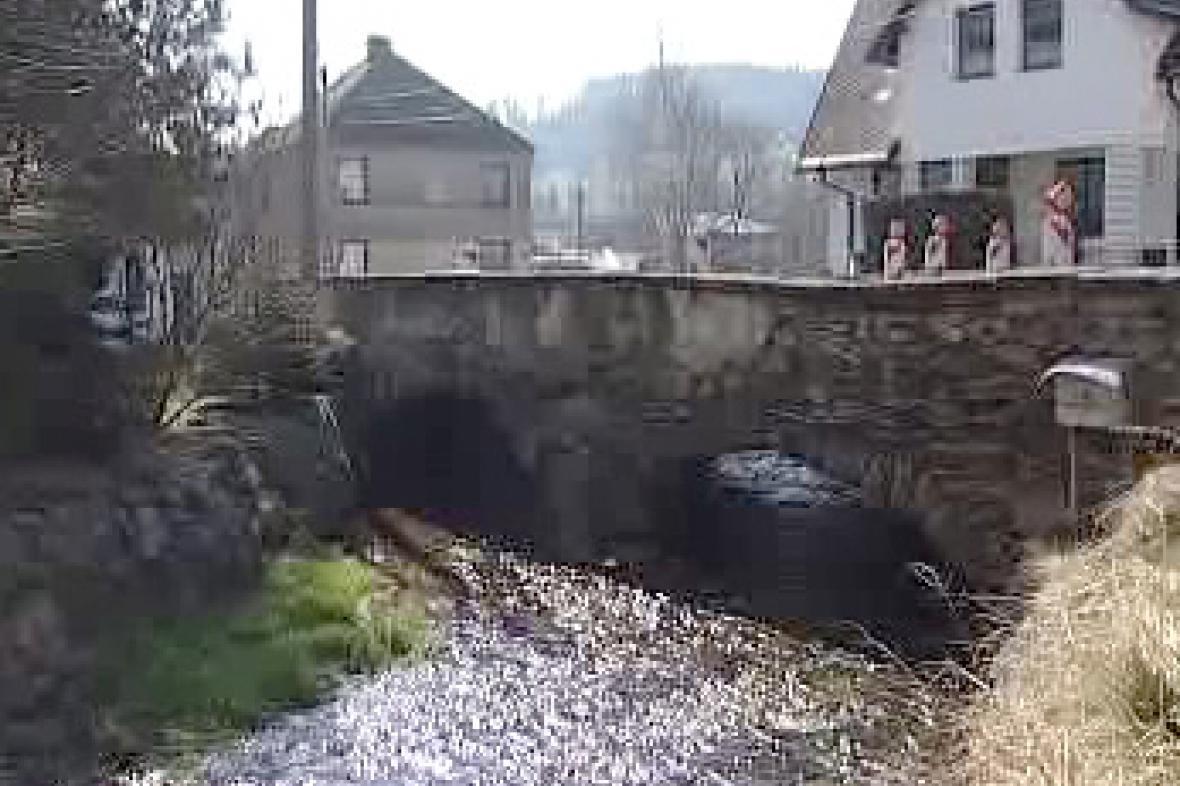 Barokní most v Městysi Kolinec