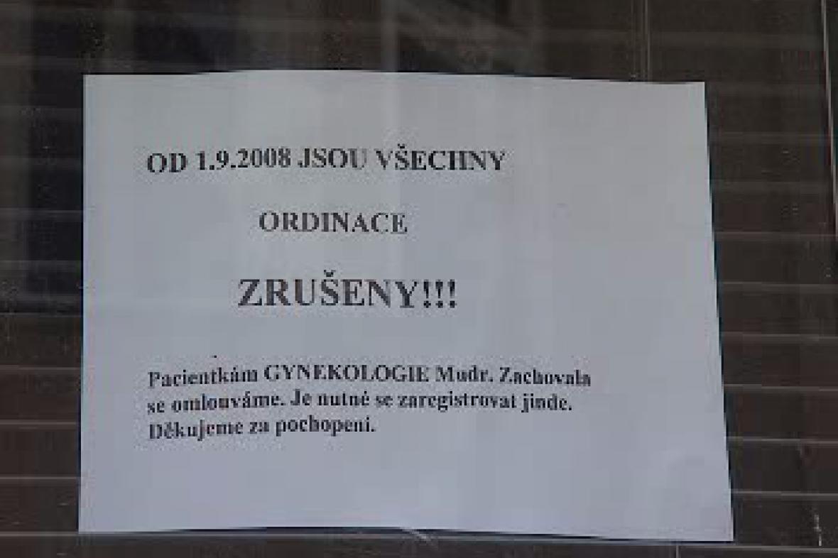 Oznámení nemocnice