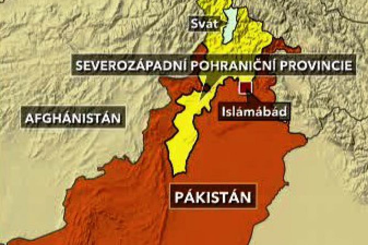 Mapka Pákistánu