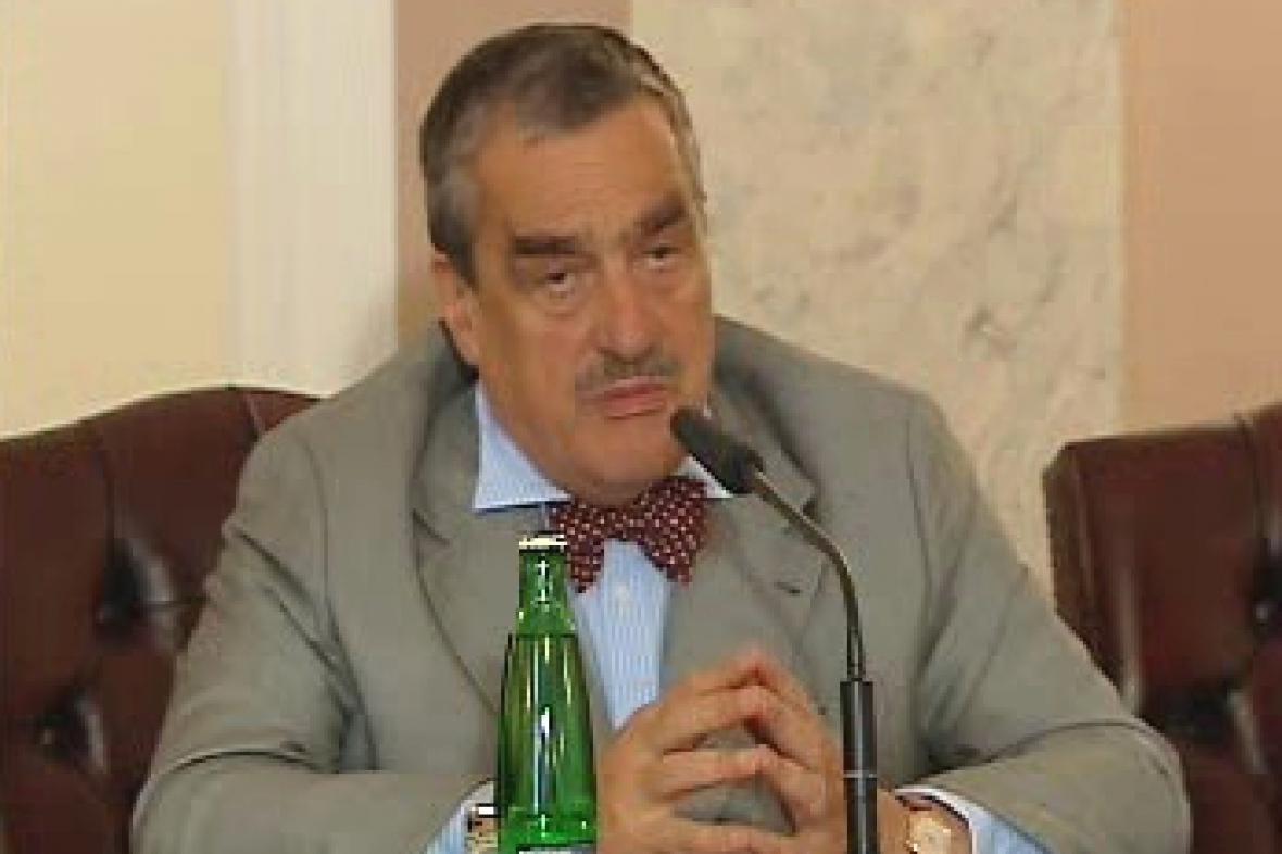 Karel Schwarzenberg na TK po jednání vlády