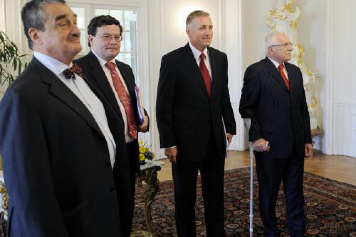 Ministři a premiér v Lánech