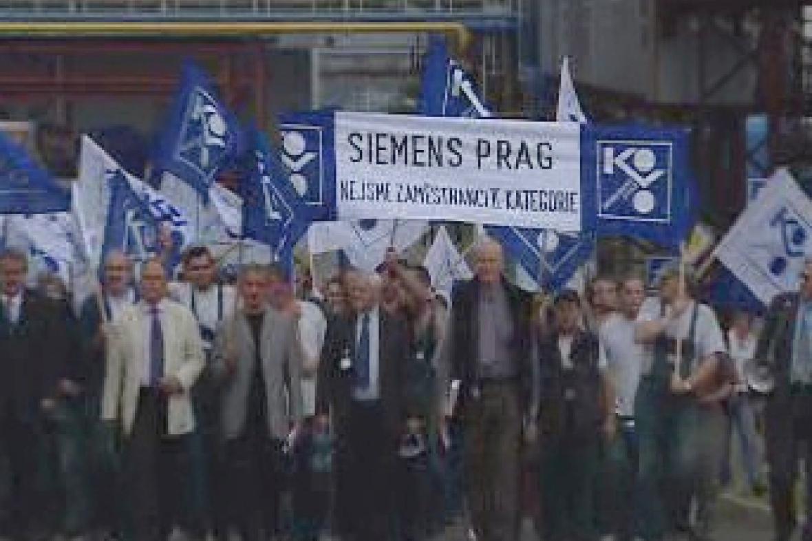 Stávka v Siemensu