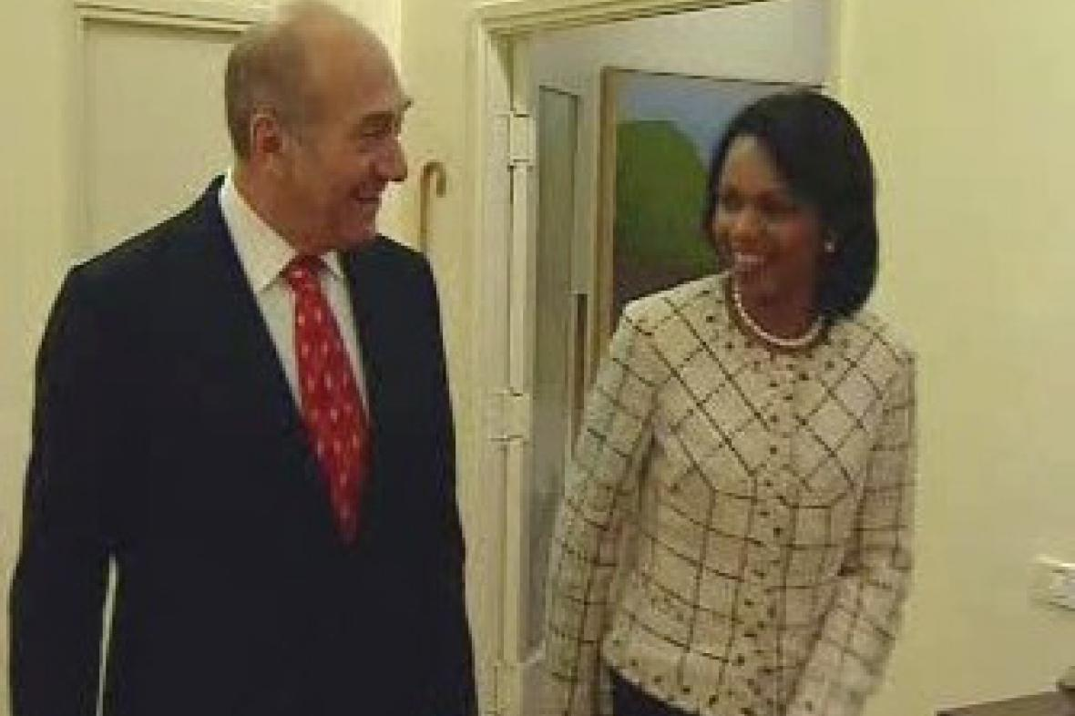 Riceová a Olmert
