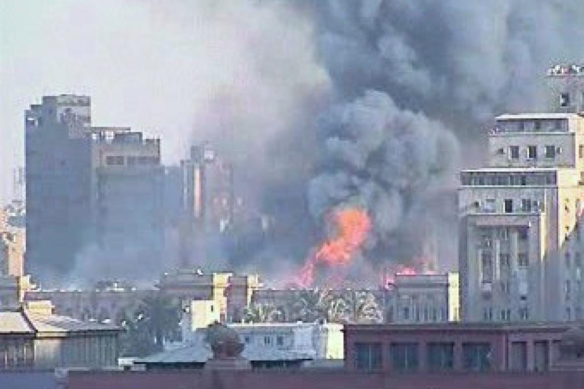 Požár egyptského parlamentu