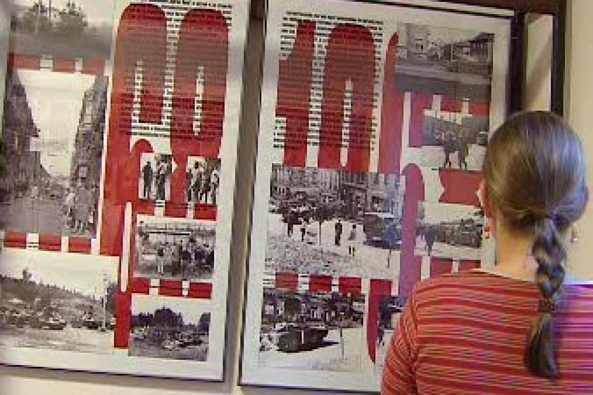 Výstava fotografií z okupace Příbrami v roce 1968