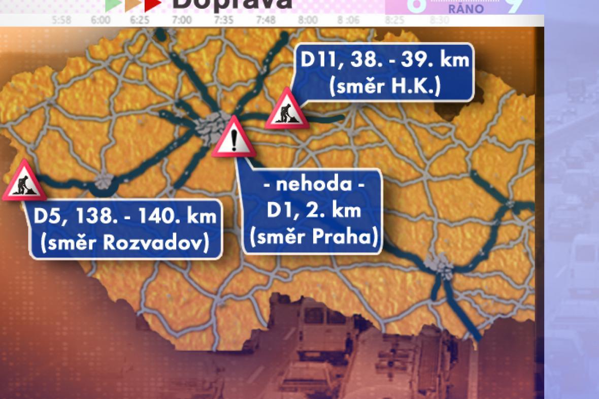 Dopravní situace ve čtvrtek 14. 8. 2008