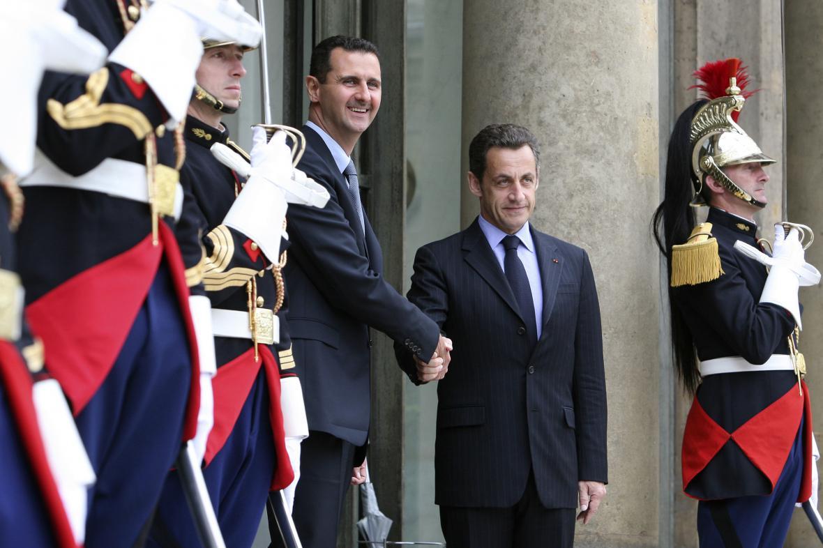 Bašár Asad a Nicolas Sarkozy