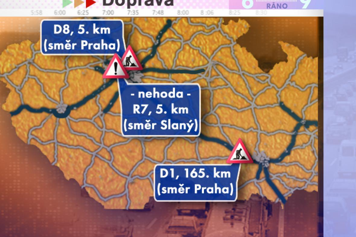 Dopravní situace ve středu 13. 8. 2008
