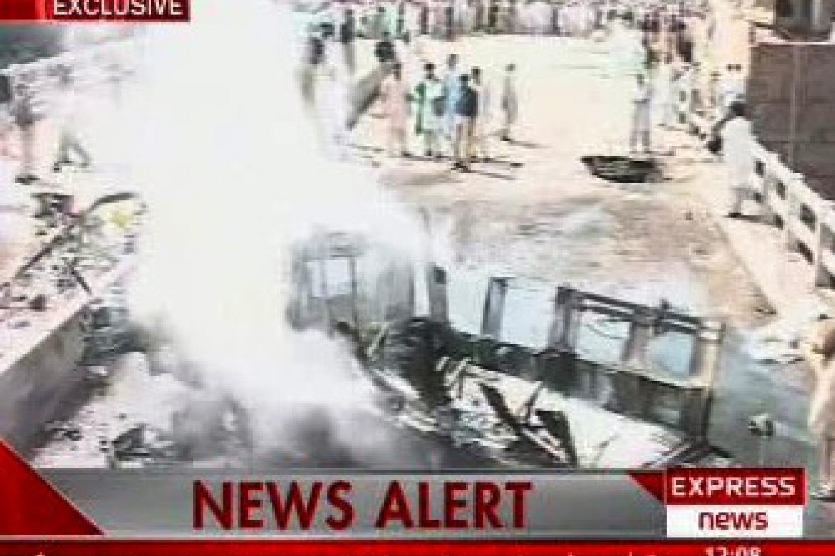 Výbuch autobusu pákistánské armády