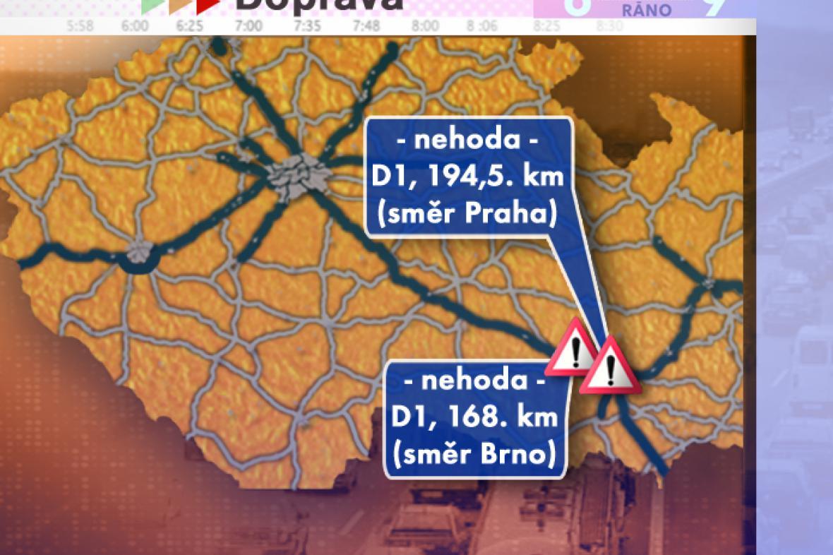 Dopravní situace v pondělí 11. 8. 2008