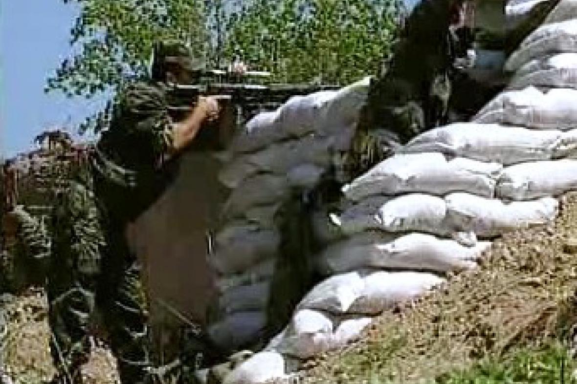 Vojáci na rusko-gruzínském pomezí