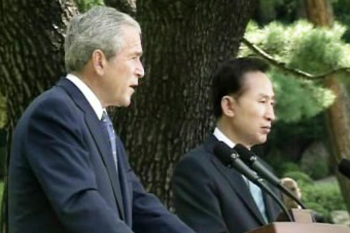 George Bush a I Mjong-bak