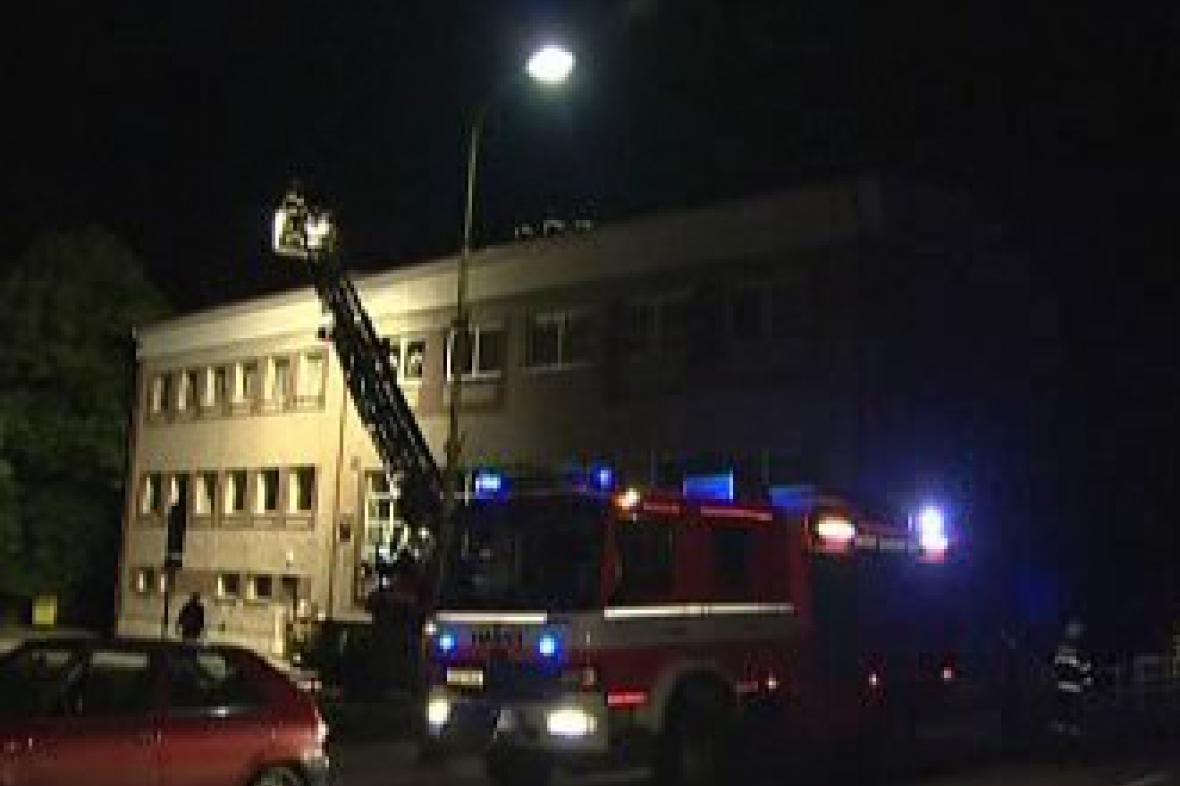 Zásah hasičů ve Studánce