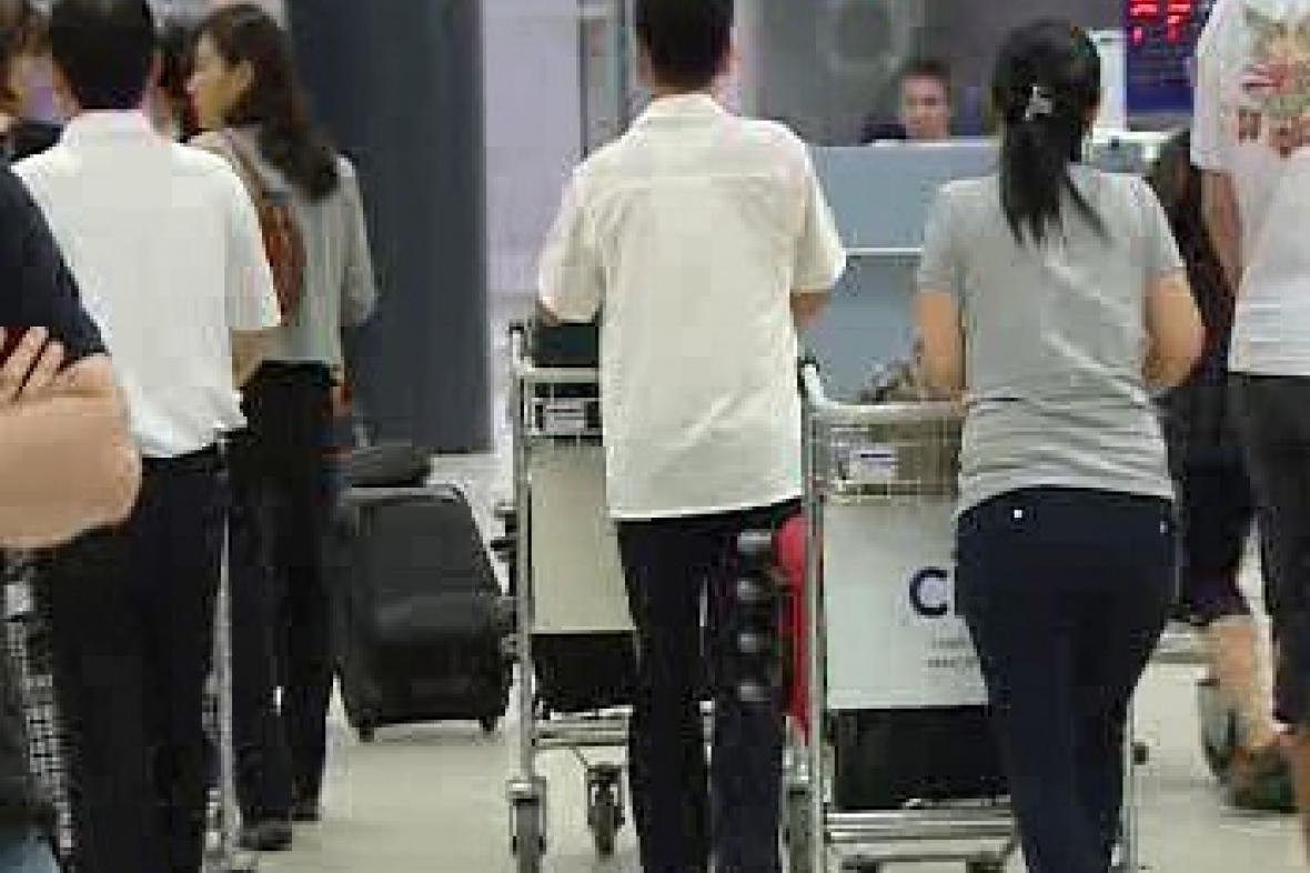 Uprchlíci na letišti
