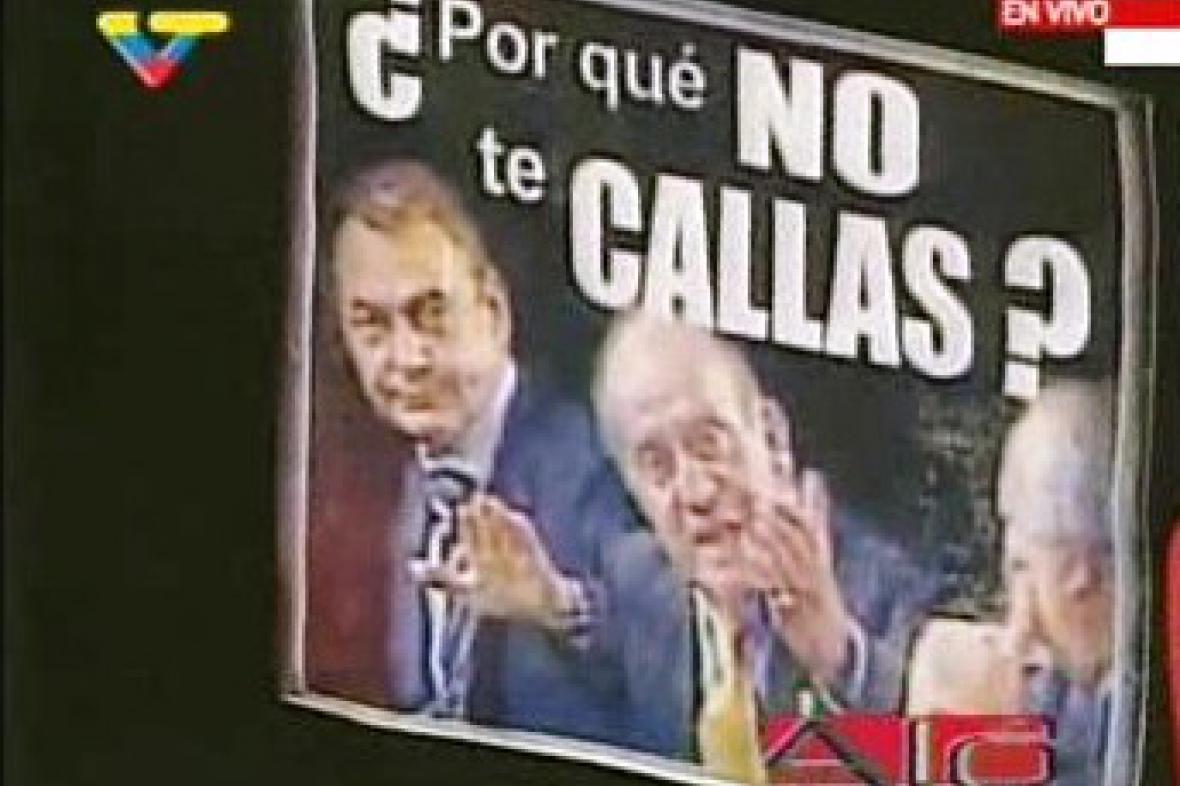Tričko od španělského krále pro Cháveze