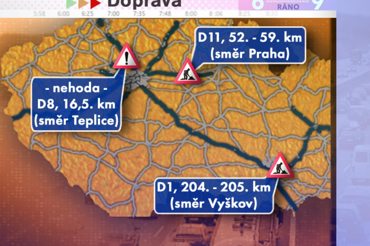 Dopravní situace ve čtvrtek 31. 7. 2008