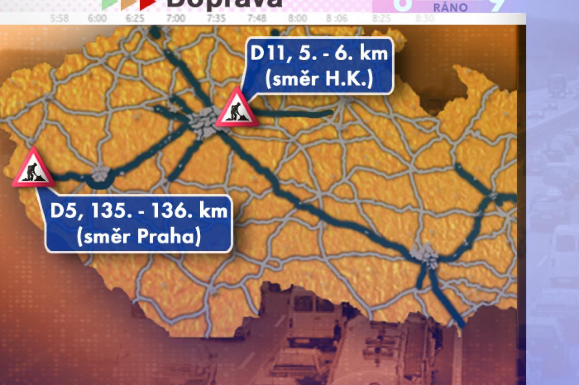 Dopravní situace ve středu 30. 7. 2008