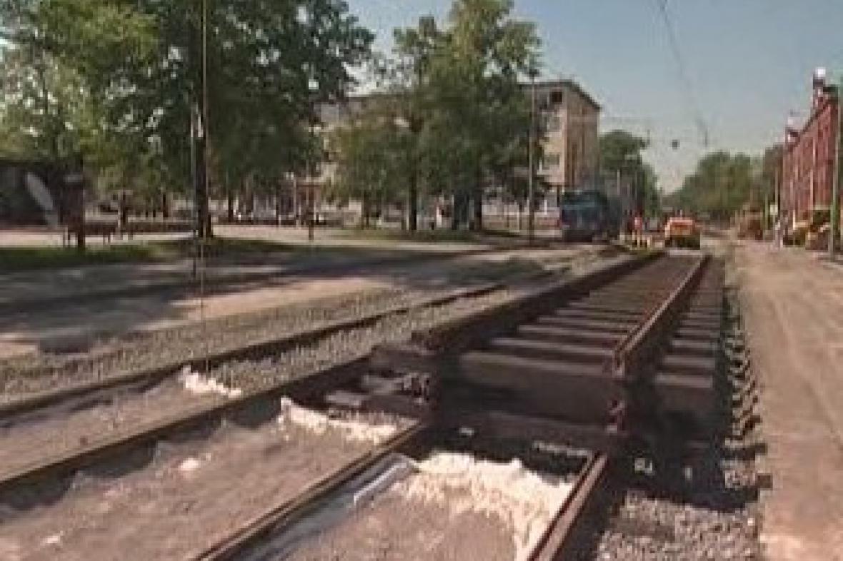 Oprava tramvajových kolejí