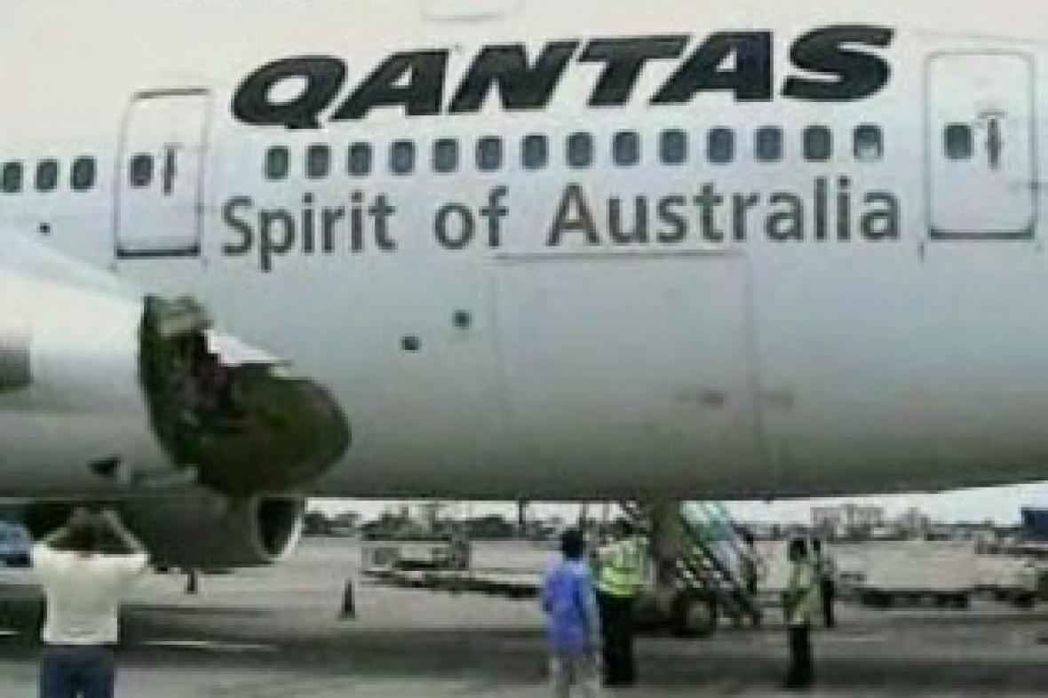 Trhlina v trupu letadla