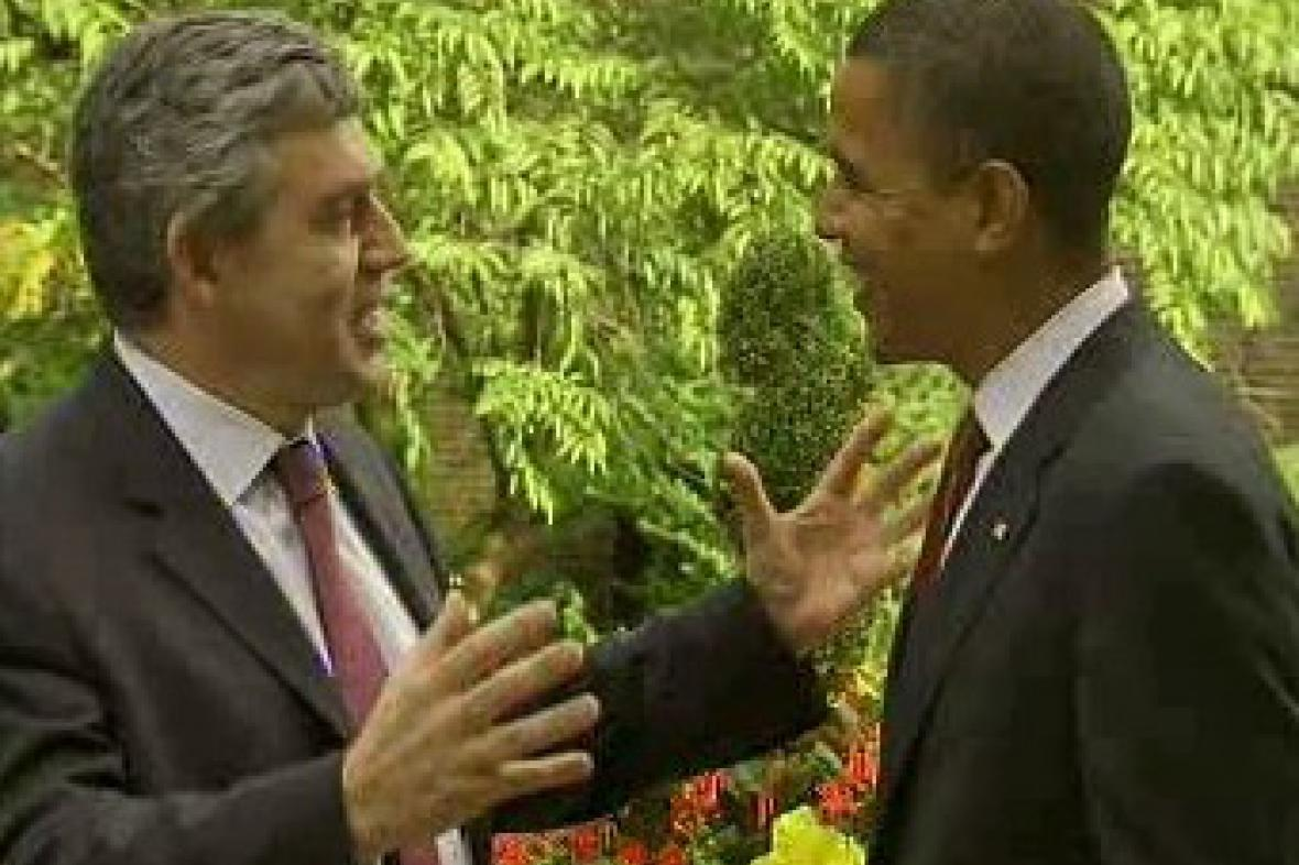 Gordon Brown a Barack Obama