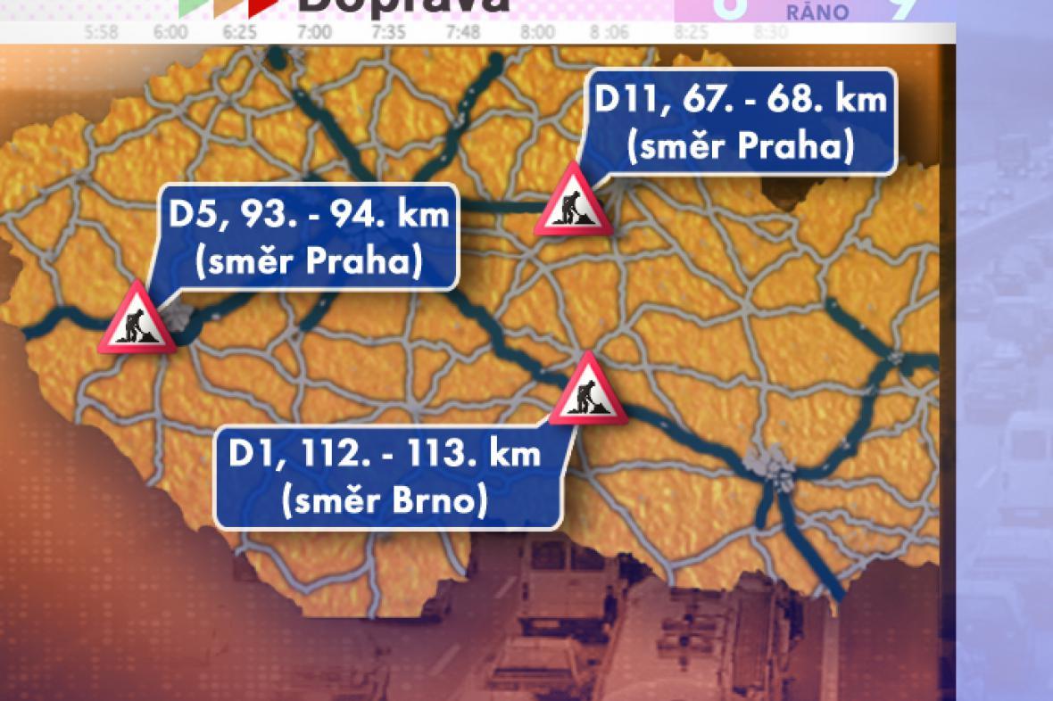 Dopravní situace ve čtvrtek 24. 7. 2008