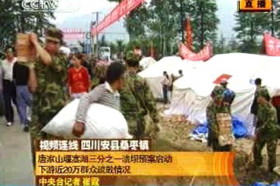 Evakuace v Číně