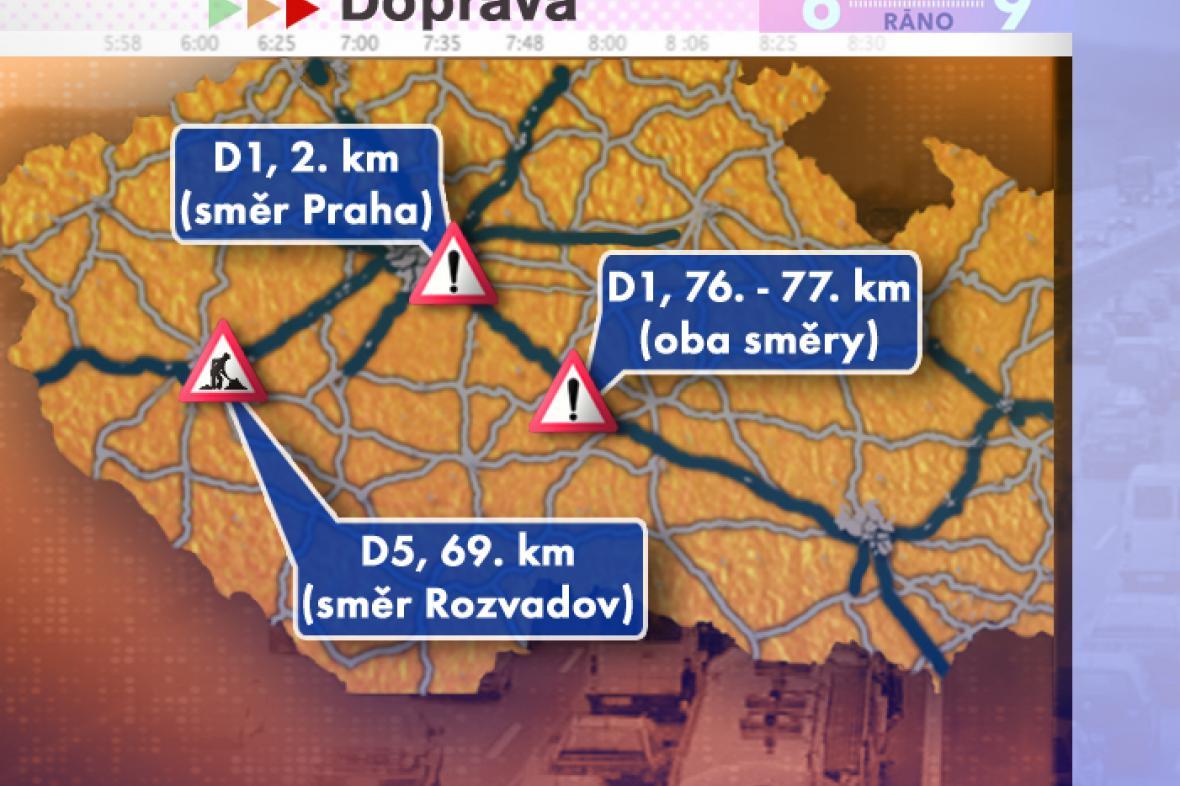 Dopravní situace ve středu 23. 7. 2008