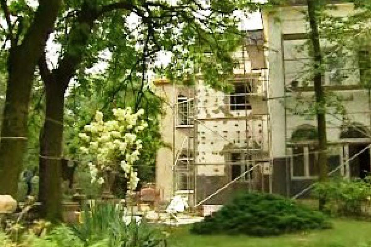 Jiránkova vila v rekonstrukci
