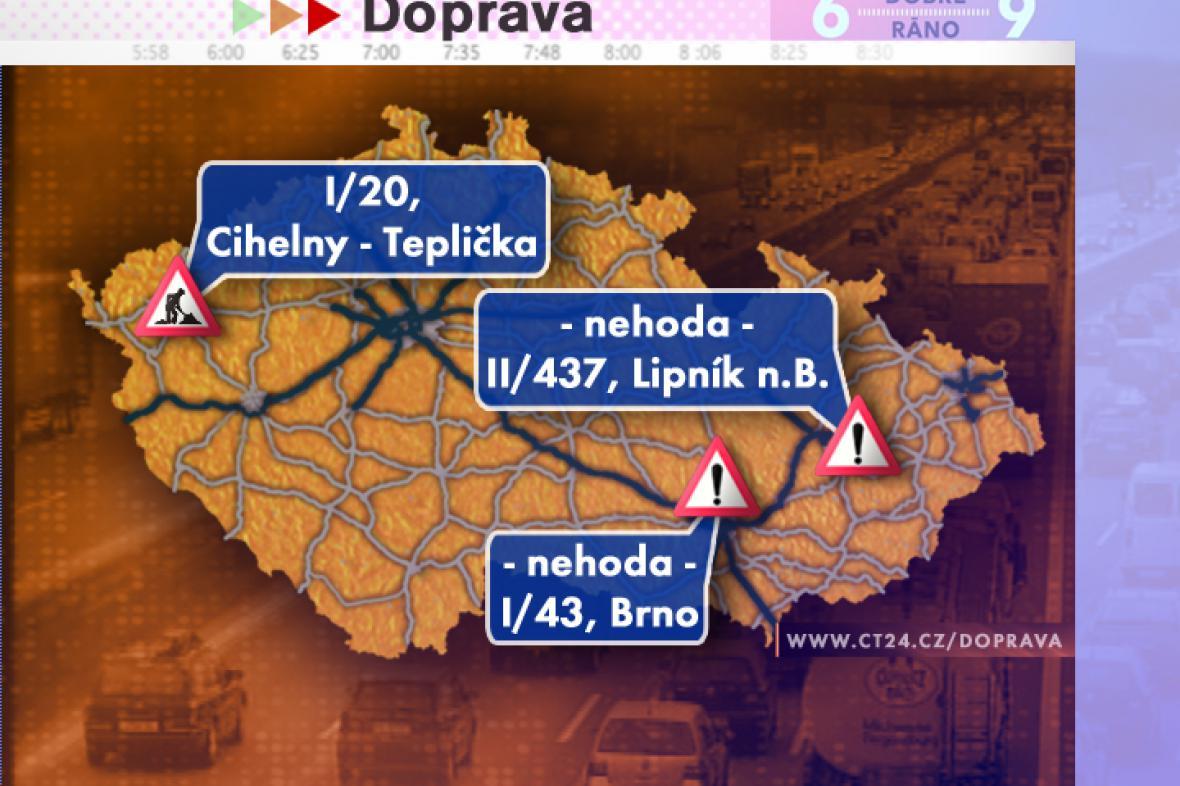 Dopravní situace v pátek 18. 7. 2008