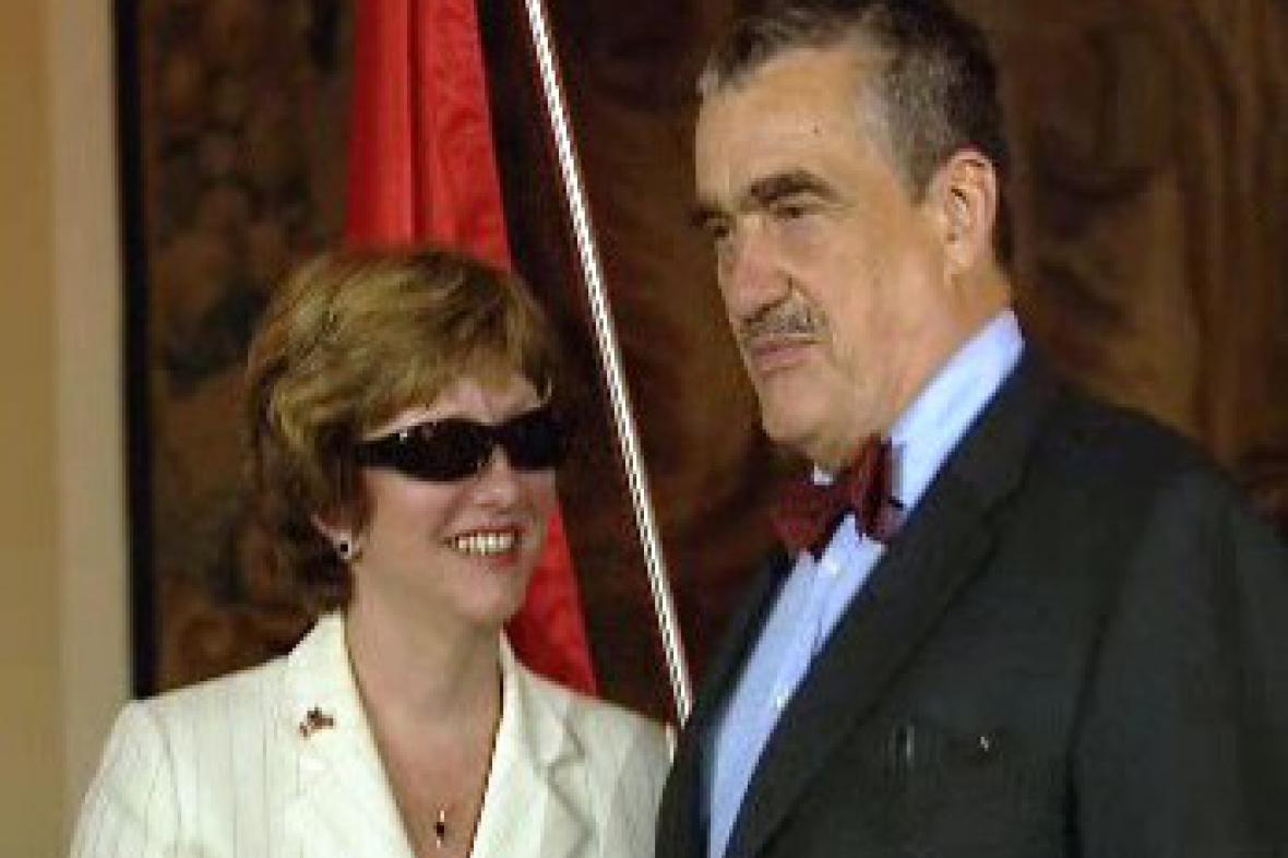 Diana Finleyová a Karel Schwarzenberg