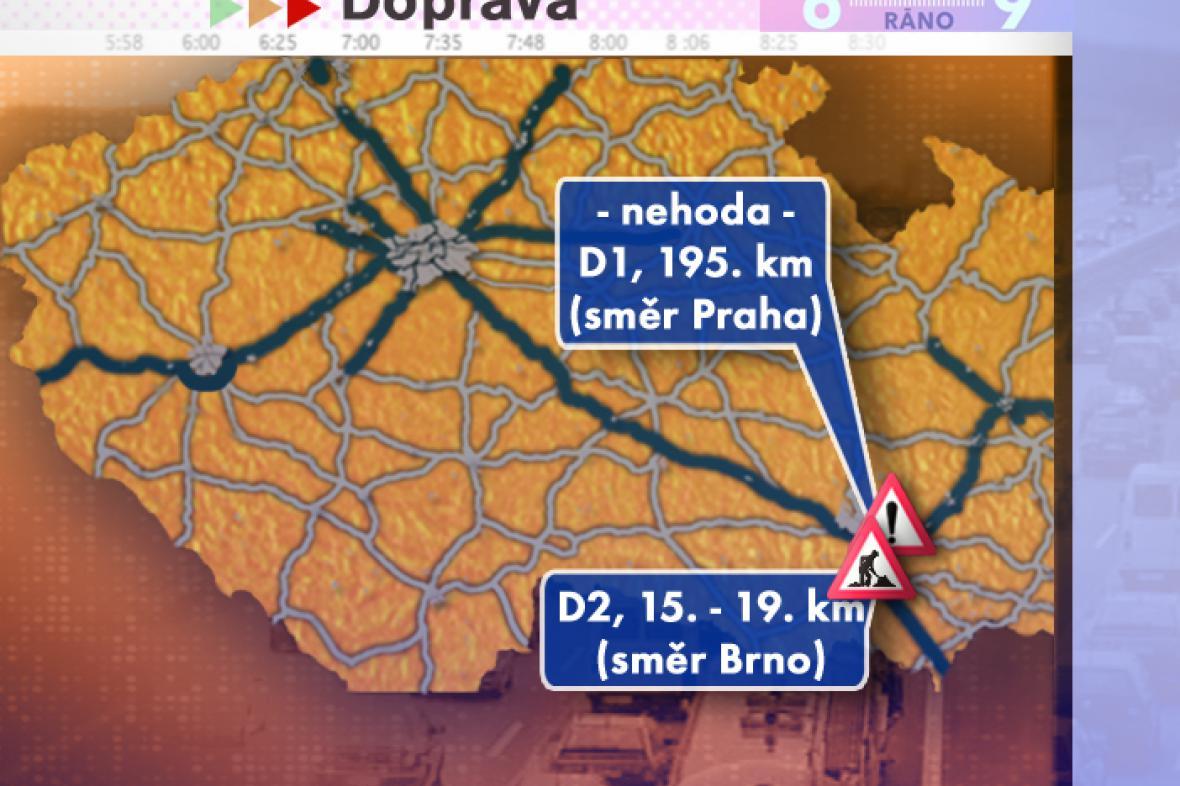 Dopravní situace v pondělí 14. 7. 2008